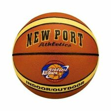 Port Basketball Laminated PVC Leather 16GF Size 7 Rust Brown/Beige/Black