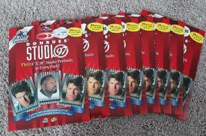 8 1997 Donruss Studio Football 8x10 Portrait Packs - Emmitt Aikman Favre Elway +