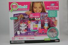 MIWORLD MI WORLD SKECHERS SHOE STORE PLAYSET 55PCS BUILD YOUR OWN MINI MALL NEW