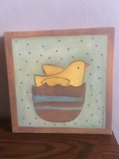 Chick And Egg Canvas Hanging Wall Art