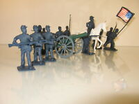 "Civil War Union Soldiers 2 1/4"" Tall and Cannon 12 Pc Set OB"