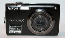 NIKON COOLPIX S3000 12.0MP DIGITAL CAMERA - BLACK - FAULTY - 1426