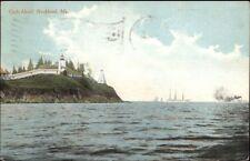Rockland ME Owl's Head Lighthouse c1910 Postcard #2