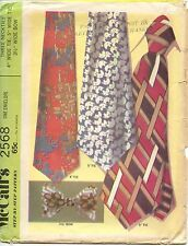VTG McCall's Sewing Pattern #2568 Three Men's Neck Tie and Bow Tie 4