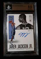 2018-19 Encased BK Jaren Jackson Jr. Rookie RC Auto Autograph #/75 BGS 9.5/10