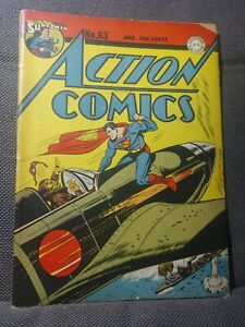 Action Comics 63   8/43   WWII Jap Zero cover. Hitler appears.   VG