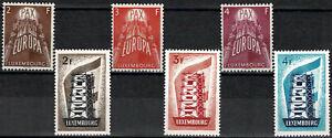 Luxemburg Luxembourg 1956/1957 EUROPA 2 Satz postfrisch MNH** KW:320€