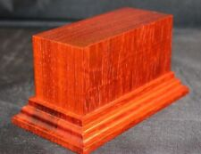 1.75x4x2.5 Hand Made Wooden base for figures/miniatures - Solid padauk wood