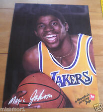 1983 ? Magic Johnson Los Angeles Lakers 7UP promo poster 19x25""