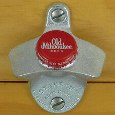 OLD MILWAUKEE Red BOTTLE CAP Starr X Wall Mount Opener