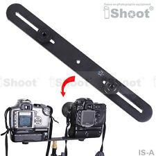 "Metal Camera Holder/Flash Bracket Mount with 2*1/4"" Adapter Screw&3*1/4"" Thread"