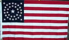 00006000 New listing Cotton, 34 Star Flag, Civil War Flag.Great Medallion American Flag