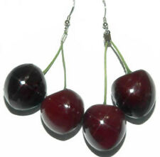 YUMMY FAUX BING CHERRIES DANGLE EARRINGS (D005)