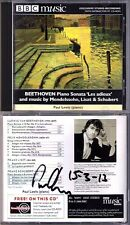 Paul LEWIS Signed BEETHOVEN Sonata Les adieux SCHUBERT 537 MENDELSSOHN LISZT CD
