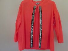 NEW 1X MISOOK OLGA JACKET CORAL REEF