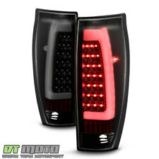 Black Smoke 2002-2006 Chevy Avalanche 1500 2500 LED Tube Tail Lights Brake Lamps