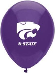 """Kansas State Wildcats NCAA College Sports Party Decoration 11"""" Latex Balloons"""