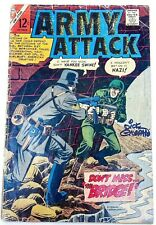 Charlton ARMY ATTACK (1966) #45 Signed by Dick Giordana w/COA FR/GD Ships FREE!