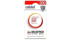 Calidad Alternative Ink Cartidge for Epson 200(4-Pack/BCMY) Box/Opened Brand New