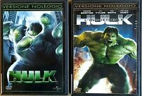 HULK + L'INCREDIBILE HULK - 2 DVD EX NOLEGGIO - UNIVERSAL