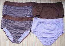 Cotton Blend Striped Briefs, Hi-Cuts Panties for Women