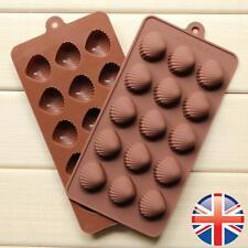 * vendedor Reino Unido * 15 Forma De Concha De Silicona Pastel De Chocolate Candy Muffin herramientas Molde Molde