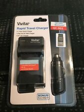 VIVITAR Battery Charger AC/DC 110/220 FOR Samsung SLB-10A L110 L210 EA-BC9UAEE