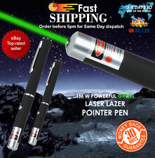 1mW POWERFUL GREEN LASER LAZER POINTER PEN HIGH POWER PROFESSIONAL 532nm TOP UK