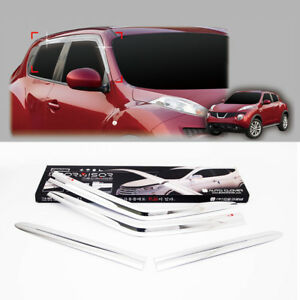 Chrome Window Sun Visor 4p For 2010 2017 Nissan Juke