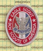 BSA OFFICIAL BOY SCOUT EAGLE RANK AWARD PATCH TYPE 13 CLEAR GAUZE 1910 BACK