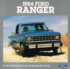 1984 FORD RANGER PickUp Truck Brochure with Color Chart: Pick Up, XL,XLT,XLS
