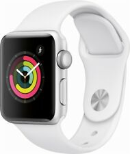 NEW Apple Watch Series 3 (GPS) 38MM Silver Aluminum Case w / White Sport Band