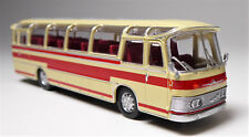 H0 BREKINA Starline Neoplan Saurer NS 12 PTT Reisebus elfenbein rot # 58231