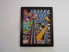 CONTEMPORARY PAINTING ABSTRACT CUBISM GEOMETRIC MODERNISM SIGNED EXPRESSIONISM