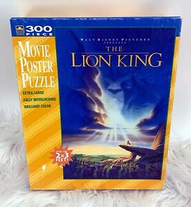 New Vintage Golden Brand Walt Disney The Lion King 300 Piece Movie Poster Puzzle