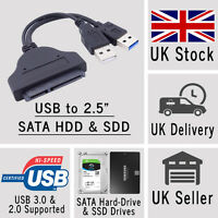 USB to SATA Cable Adaptor Adapter Connector Converter for 2.5 HDD Hard Drive SSD