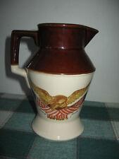 Vintage McCoy Pottery USA Pitcher Spirit of 76 Carved Wooden Eagle Jug 24oz
