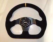 "RMD Steering Wheel Suede 320mm 13"" Inch Flat D Shape IVA Kitcar Race  New Black"