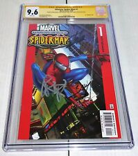 Ultimate Spider-Man #1 3x CGC SS 9.6 Signature Autograph STAN LEE BAGLEY BENDIS
