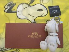 NWT Coach X Peanuts LIMITED EDITION Snoopy Doll Charm Key Fob 63166 SOLD OUT