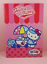 Rare Sanrio Hello Kitty Candy Stand Notebook with Stickers Japan Stationery
