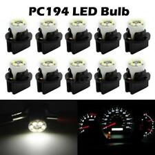 10x White PC194 Instrument Panel Cluster Led Light Bulb Dashboard Sockets