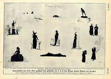 Silhouetten-Bilder des Prinzen August Wilhelm v.Preußen aus Korfu 1912