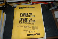 KOMATSU PC300-7 PC350 Excavator Operation Maintenance Manual book operator OWNER