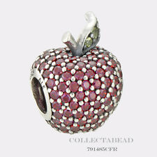 Authentic Pandora Sterling Silver Red Pave Apple CZ Bead 791485CFR