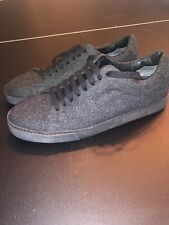 Vince Men's Noble Low Top Charcoal Wool Sneakers Size 9.5