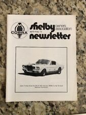 Shelby Cobra Owners Association Newsletter April May 1975 New MINT Rare