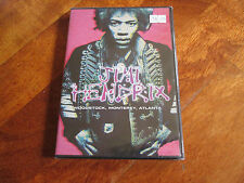 JIMI HENDRIX Woodstock Monterey Atlanta DVD SEALED! EXPERIENCE THE DOORS NO LP