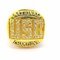 1978 USC Trojans WILLIAMS NCAA 18k GP Brass Championship Ring & Wood Box