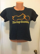 Women's Harley-Davidson short sleeve embroidered Half T shirt M Motorcycle Black